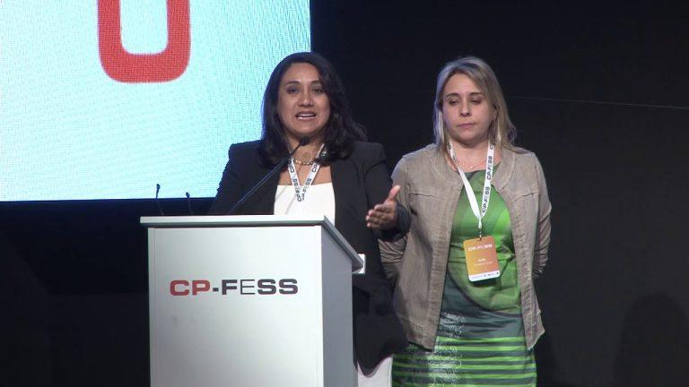 Kelly San Martin, Sociedad Chilena de Medicina Paliativa (Chile) y Elizabeth Díaz, Sociedad Peruana de Cuidados Paliativos (Perú)