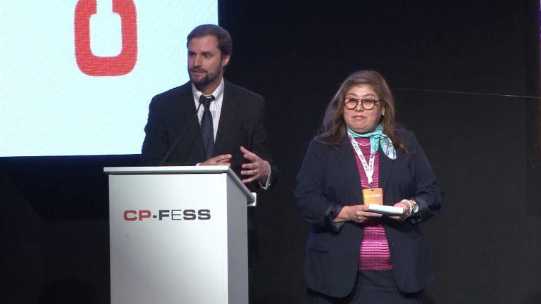 Silvia Allende, Instituto Nacional de Cancerología (México) y  Jaime Bellolio Avaria, Cámara de Diputados (Chile)